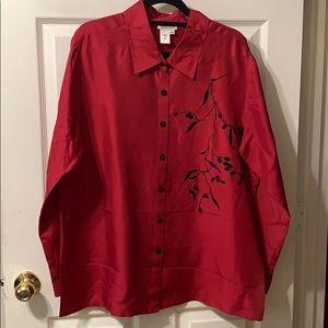 Coldwater creek 100% silk top/blouse